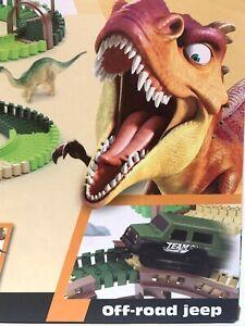 DIY Kids Dinosaur Track Construction Set 185pcs Building Play Toy XMAS Gift