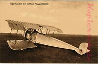 AK Flugzeug Doppeldecker der Gothaer Waggonfabrik um 1915, 16/08