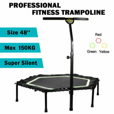 """48"""" Professional Fitness Trampoline Gym Rebounder Cardio Home Exercise Handrail"""