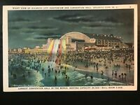 Vintage Postcard>1935>Atlantic City Convention Center>Night>Atlantic City>N.J.