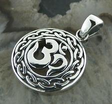 Kettenanhänger Silber 925 Esoteric Om Shanti Devanagari Mantra Goa Zeichen