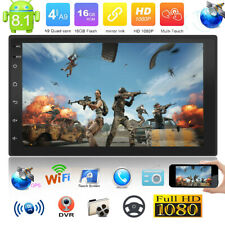 "Double 2Din Android 8.1 7"" Quad Core Car Stereo MP5 Player GPS FM Radio WiFi BT"