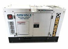 10KVA GENERATOR 240V 1 PHASE - 9,000W PRIME - 3 CYL DIESEL 1500RPM WATER COOLED