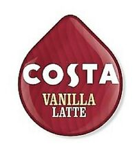8 x Tassimo Costa Vanilla Latte T Discs Pods Sold Loose - 4 Large Drinks