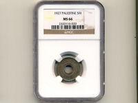 Palestine:KM-3,5 Mils, 1927 * Israel * NGC MS 66 *