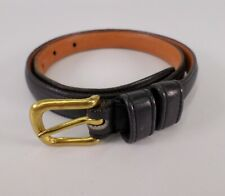 Coach Leather Belt 2807 Glove Tanned Cowhide Solid Brass Buckle 26 Blue USA Vtg