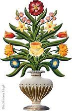 Artist Wilhelm Schweizer German Standing Pewter Zinn Flowers in Vase Blumenvase