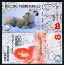 Arctic Territories, $8, 2011, Polymer UNC Polar Bears