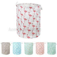 Laundry Carts Washing Dirty Clothes Toy Basket Bin Foldable Storage Bag Hamper