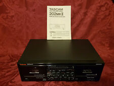 Tascam 202 MKII Bi-Directional DOLBY HX PRO Dual Cassette Deck Player GUARANTEED