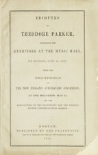 Ralph Waldo Emerson / Tribute To Theodore Parker Comprising The Exercises