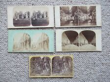 More details for stereoview 5 mixed views 1859 cubes glen in ayrshire plus 4 others