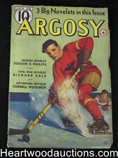 Argosy Jan 28, 1939 Burroughs, Cornell Woolrich, Philips - High Grade