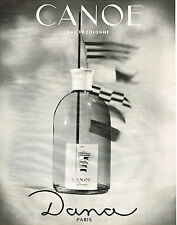 PUBLICITE ADVERTISING 044  1965  DANA  eau de Cologne CANOE