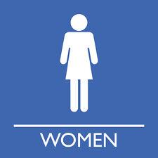 "Women's washroom Sign 8"" x 8"""