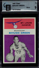 1961 Fleer 15 Sihugo Green RC.  GAI 9 MINT.  Compare to SMR price. (TX77865).