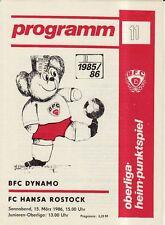OL 85/86  BFC Dynamo Berlin - FC Hansa Rostock