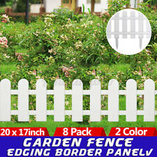 8Pcs Plastic Fence Panel Home Yard Outdoor Garden Border Edging Fencing Decor