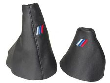 "Gear & Frein à Main Gaiter Pour BMW E39 Automatique 95-03 cuir ""MPOWER"" BRODERIE"