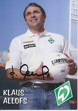 Klaus Allofs   SV Werder Bremen 2006/07  Autogrammkarte signiert 376627