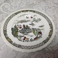Vintage, Rare, Myott, England,Variant, Gaudy Blue Willow Dessert or Bread Plate