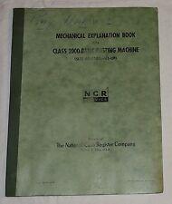 Original NCR National Cash Register Class 2000 Bank Posting Machine Manual 1951