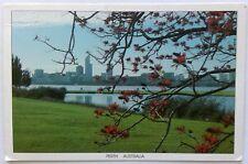 Perth Flame Tree Swan River 1992 Postcard (P312)