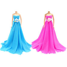New Handmade Wedding Dress Party Gown Clothes Outfits Fit For Barbie Doll New...