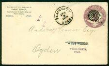 1893, 2¢ Columbus env tied by PLAIN CITY UTAH corner card OGDEN TAX COLLECTOR