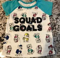 "NWT TODDLER GIRL PAW PATROL ""SQUAD GOALS"" SHIRT SIZE 3T"