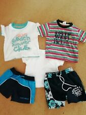 Boy's Summer Clothes Bundle, Age 6-9 & 6-12 Months. 5 items, shorts, t-shirts