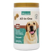 NaturVet All in One 4 IN 1 Support for Dogs 120 ct Soft Chews Made USA