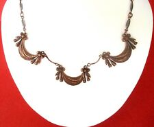 Vintage French  Copper Necklace
