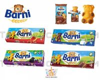 BEAR BARNI Sponge Cakes Soft Biscuits MILK CHOCOLATE STRAWBERRY FRUIT Flavors