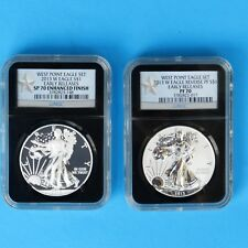 2013-W  West Point Eagle Set, NGC Early Releases SP 70, PF 70, (2 Coin)