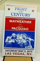 2015 FLOYD MAYWEATHER MANNY PACQUIAO FIGHT OF THE CENTURY ADVERTISING LOBBY SIGN