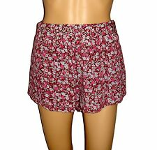 Billabong Women's Casual Shorts Floral Print NWT Med Elastic Waist Fully Lined