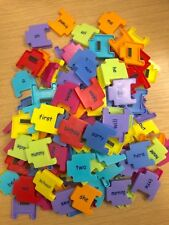 Colourful Fridge Magnet Words 46 Pieces in Bag