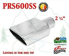 "PRS600SS 2.25"" Stainless Oval Exhaust Tip 2 1/4"" Inlet 5 1/2"" Outlet 6 1/2"" Long"