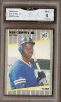 GMA 9 Mint KEN GRIFFEY JR 1989 Fleer #548 Seattle Mariners ROOKIE CARD HOF!