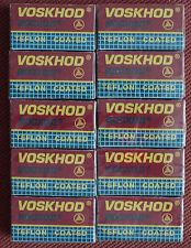 VOSKHOD 50 Teflon Coated Double Edge Razor Blades 10 packets of 5 pcs VOSHOD