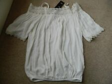 Cream Off The Shoulder with Straps Lace Top - F&F - Size 6 BNWT