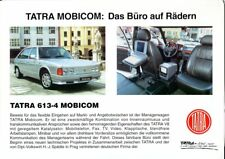 Tatra 613-4 Mobicom German market sales brochure/leaflet