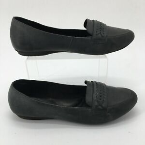 Born Womens 11M Alkia Slip On Loafer Flats Comfort Shoes Black Leather F68503