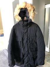Ralph Lauren Polo  Down Feathers Heavy Winter Puffer Parka Jacket With Fur M/L