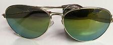 Aviator Laser Lens Yellow Orange Green Tint Lens Shades Sunglasses Uv 400