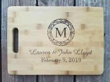 """Personalized Bamboo Cutting Board For Wedding Christmas Anniversary Gift 13 3/4"""""""