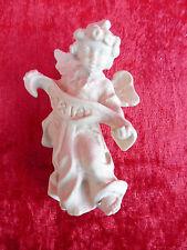 belle Chiffre en bois__Ange__Gloria__sculpté __Tyrol__9,5cm