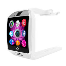 Q18 Bluetooth Smart Wrist Watch Camera for Android Samsung SIM Card White