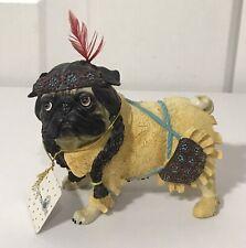 """Westland Giftware Pugnacious Pug Pocahontas Dog Figurine #16175 """"Pug-ahontas�"""